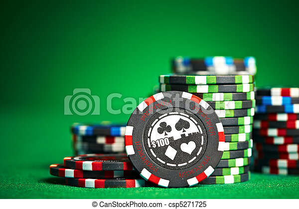 gambling chips with copy space - csp5271725