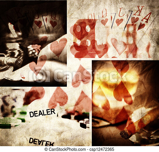 gambling collage - csp12472365