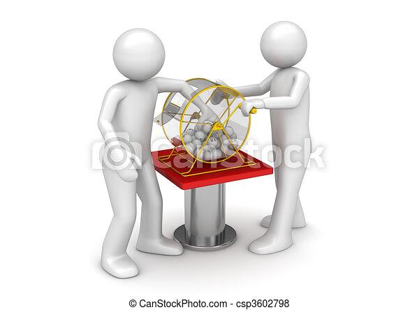 Gambling collection - Bingo drawing - csp3602798
