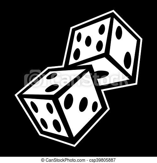 Gambling Dice - csp39805887