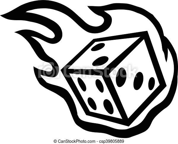 Gambling Dice - csp39805889