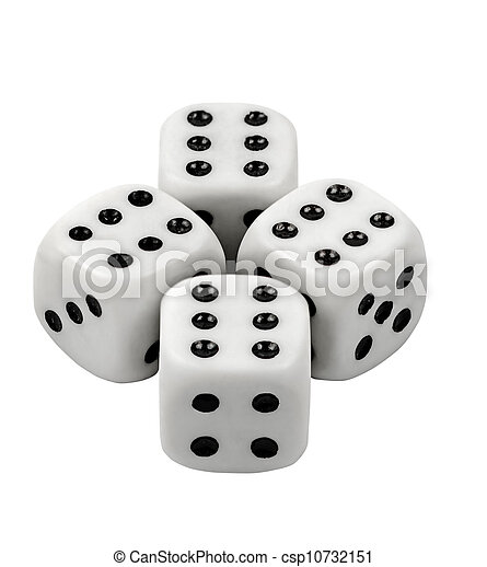 Gambling dices isolated on white background - csp10732151