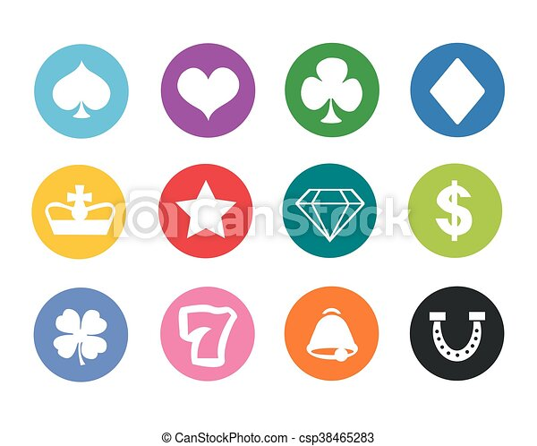 Gambling icons - csp38465283