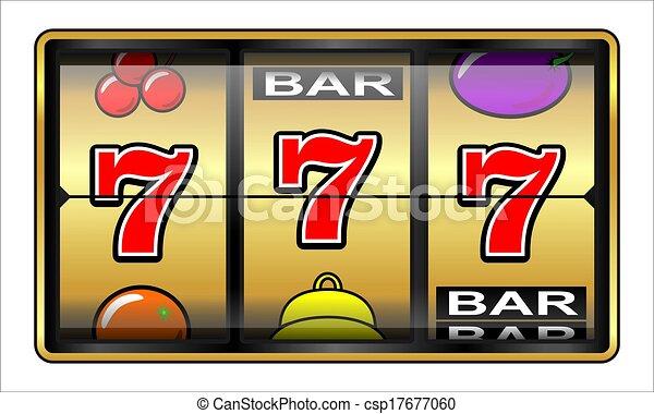 Gambling illustration 777 - csp17677060