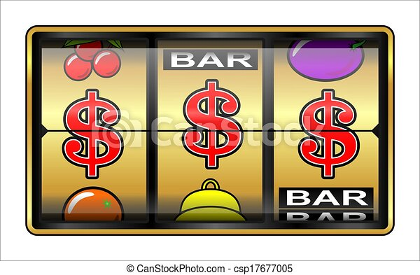 Gambling illustration $ - csp17677005