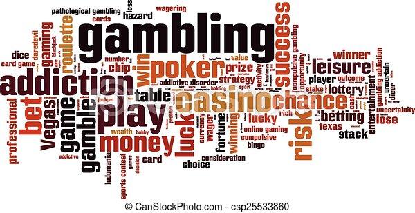 Gambling word cloud - csp25533860