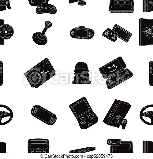 0ad5ddcaca28 Game Console And Virtual Reality Black Icons In Set Collection For Design.game  Gadgets Vector Symbol