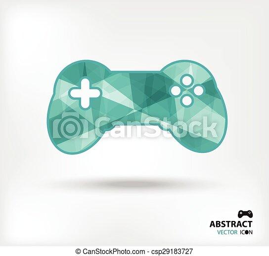 game controller abstract vector icon geometric polygon - csp29183727