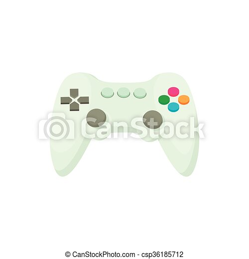 Game Controller Icon Cartoon Style Game Controller Icon In