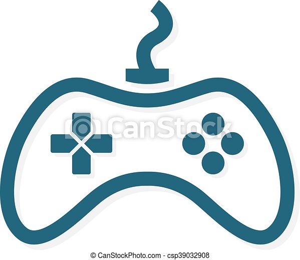 game controller logo template joystick icon vector logo or icon
