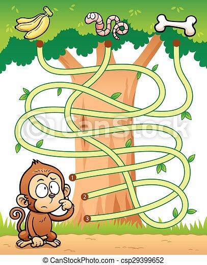 game for children maze game vector illustration of education maze