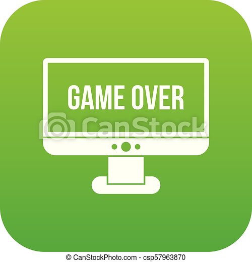 Game over icon digital green - csp57963870