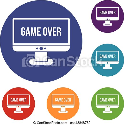 Game over icons set - csp48848762