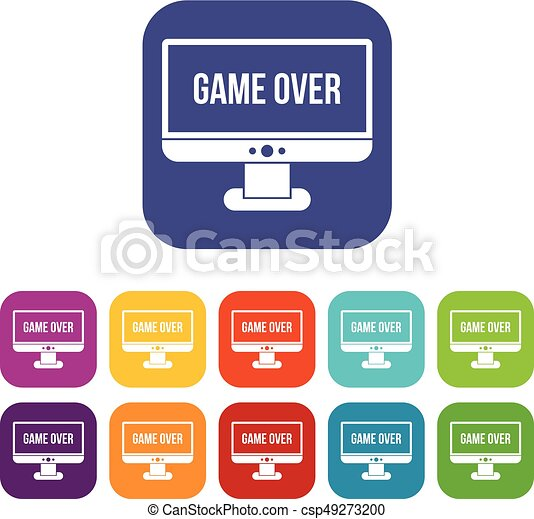 Game over icons set - csp49273200
