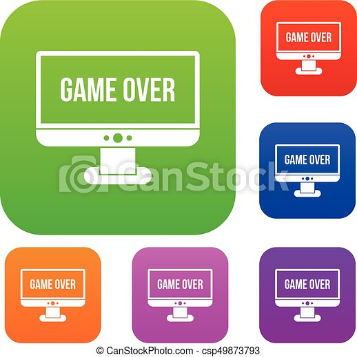 Game over set collection - csp49873793