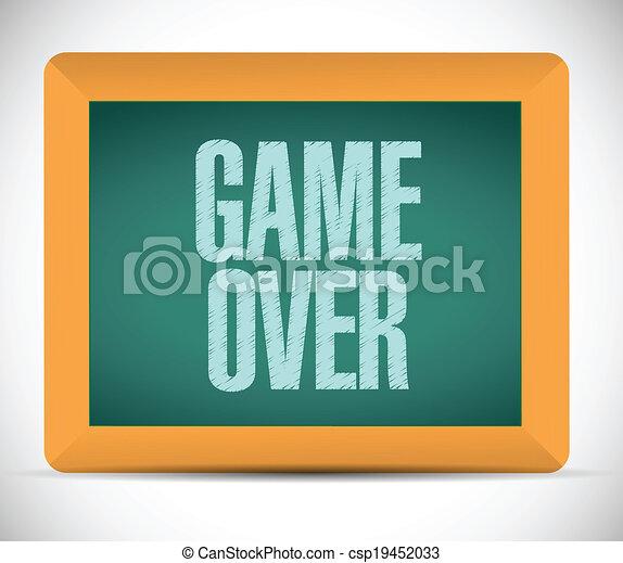 game over sign message illustration design - csp19452033