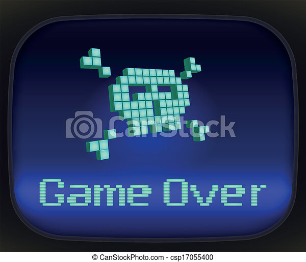 Game over, tv game. Skull and Crossbones - csp17055400