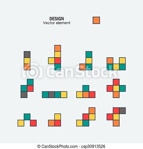 Brick Template | Game Tetris Square Template Brick Game Pieces
