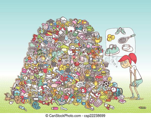 game., visuale, soluzione, layer!, oggetti, nascosto, trovare - csp22238699