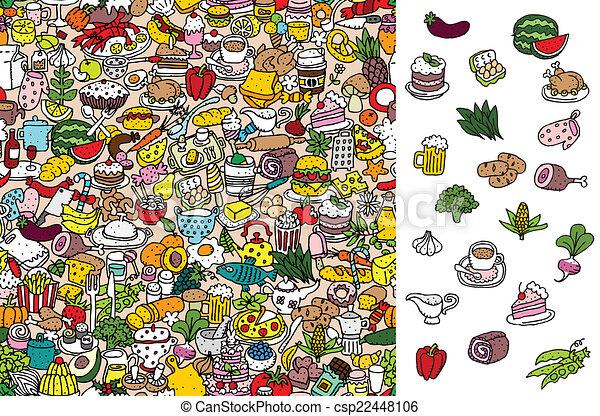 game., visuel, solution, layer!, nourriture, caché, trouver - csp22448106