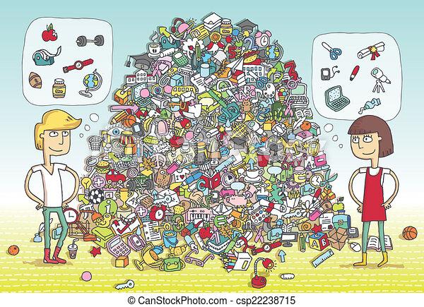 game., visuel, solution, layer!, objets, caché, trouver - csp22238715