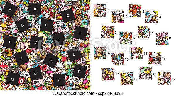 game., visuel, solution, morceaux, school:, layer!, caché, allumette - csp22448096