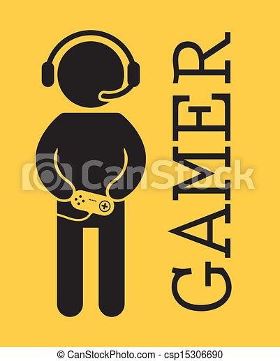 gamer design over yellow background vector illustration