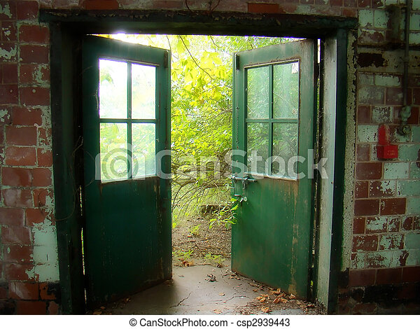 gamle, døre - csp2939443