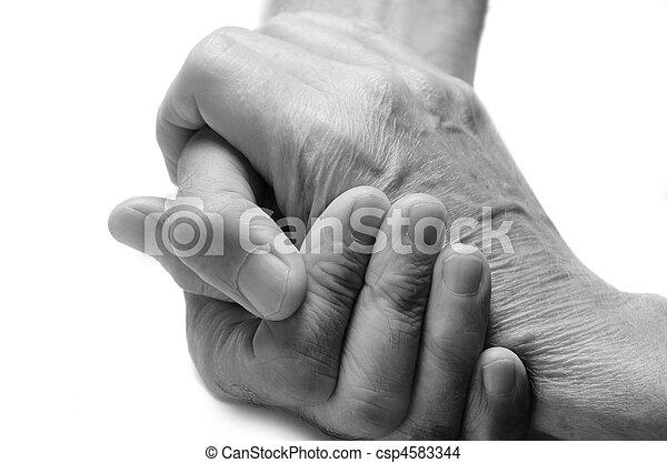 gamle, hænder - csp4583344