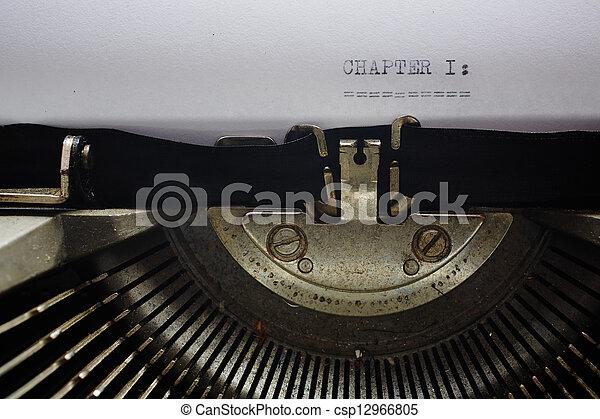 gamle, skrivemaskine - csp12966805