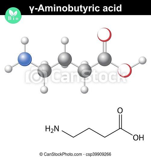 gamma Aminobutyric acid synaptic neurotransmitter - csp39909266