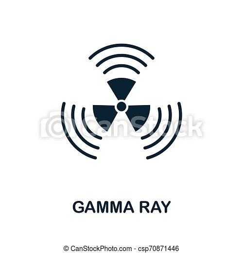 Gamma Ray vector icon symbol. Creative sign from biotechnology icons collection. Filled flat Gamma Ray icon for computer and mobile - csp70871446