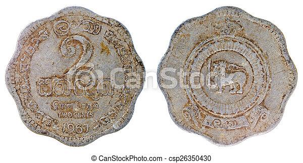 gammal, ceylon, mynt, sällsynt - csp26350430