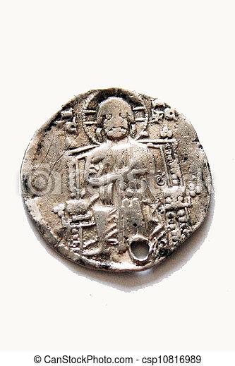 gammal, grekland, mynt, roma - csp10816989