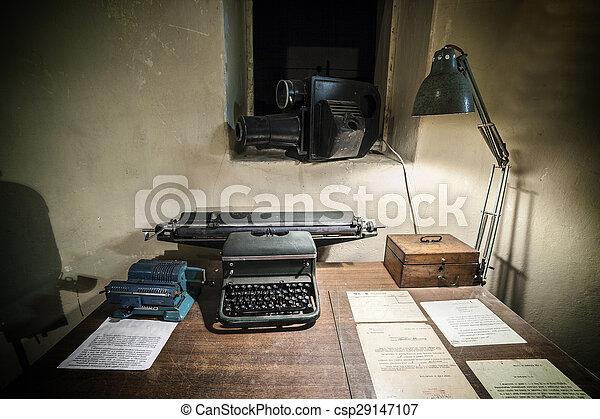 gammal, kontor - csp29147107