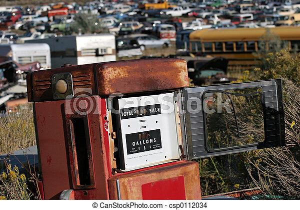 gammal, pump, gas - csp0112034