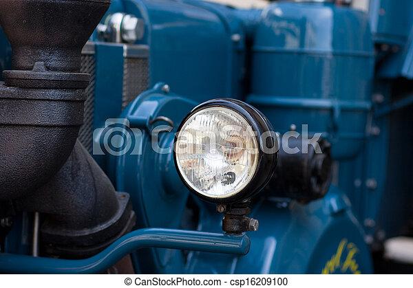 gammal, tidmätare, traktor - csp16209100