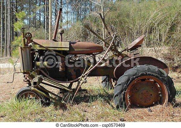 gammal, traktor - csp0570469