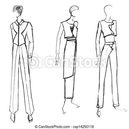 Dessin de veste femme
