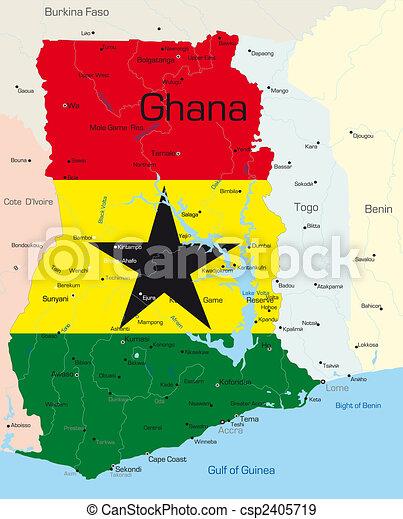 mapa do pais gana Gana, mapa, colorido, cor, país, abstratos, bandeira, nacional. mapa do pais gana