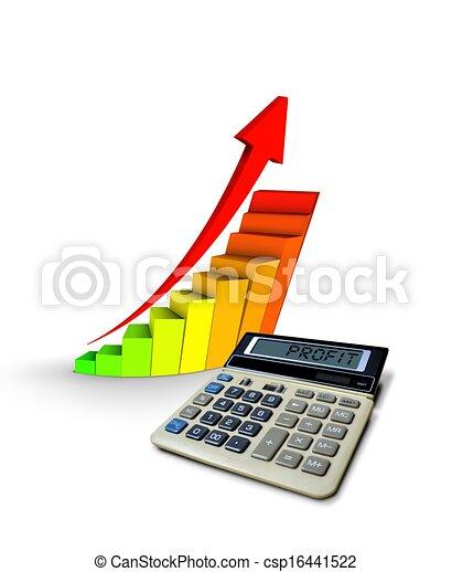 Calculador con gráficos de ganancias - csp16441522