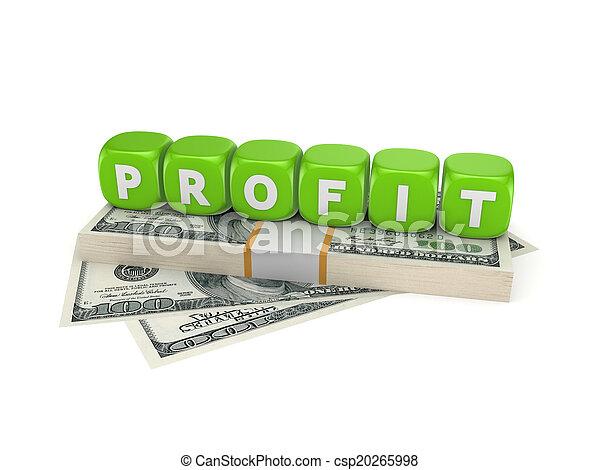 Concepto de ganancias. - csp20265998