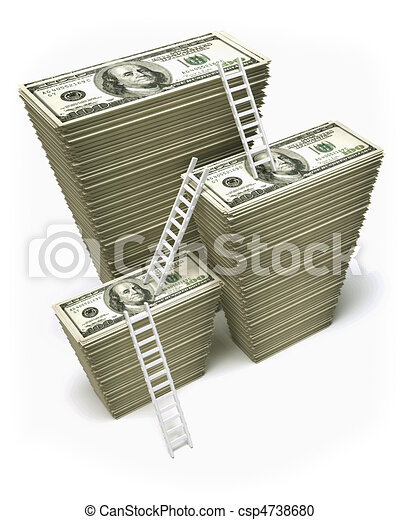 Dólares de ganancia - csp4738680