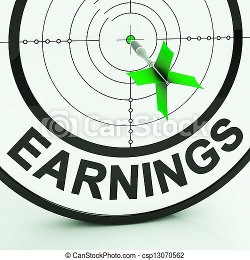 ganancia, dinero, ganancias, ingresos, empleo, exposiciones - csp13070562