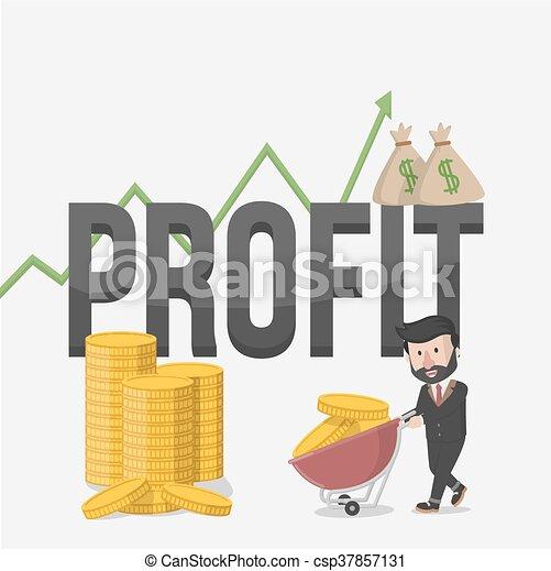 Ilustración de negocios de ganancias - csp37857131