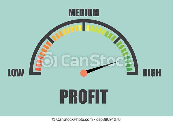 Medidor de beneficios mínimo - csp39094278