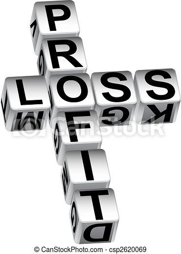 Los dados pierden ganancias - csp2620069