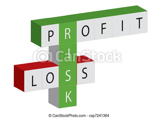 Ganancia y pérdida - csp7241364