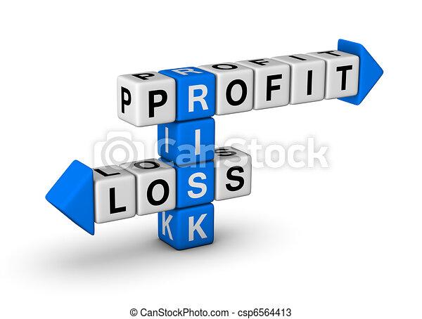 Riesgo: lucro y pérdida - csp6564413