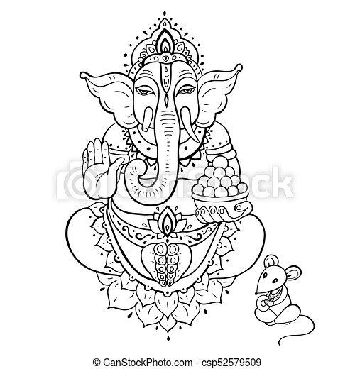 Ganapati. Lord Ganesha - csp52579509